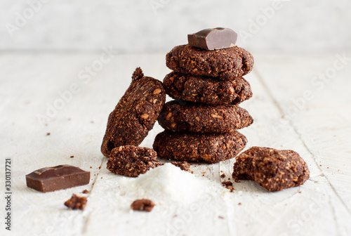 Keto Chocolate Cookies with almond and coconut flour Wallpaper Mural