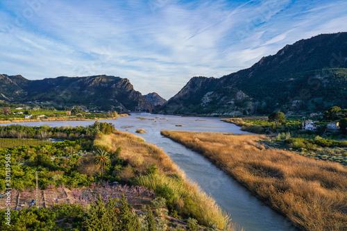The Ojos reservoir, also called Azud de Ojos in Blanco, Region of Murcia. Spain