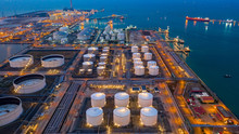 Aerial View Oil And Gas Termin...