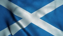 Scotland Flag Waving In The Wi...