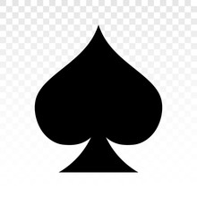 Playing Poker A Flat Spade Suit Card Icon For Applications And Websites