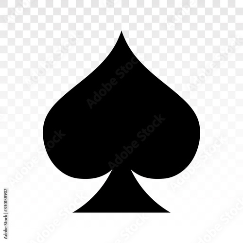 Obraz na plátně Playing poker a flat spade suit card icon for applications and websites