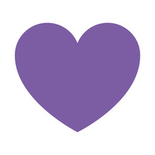 Purple Cute Heart Isolated Ico...