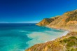 panorama of the cliffs and roads of California on the Pacific coast