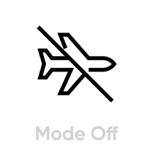 Airplane Mode Off Icon. Editab...