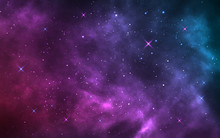 Space Background. Realistic St...