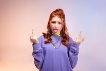 Redhead Female Teenager Sticki...