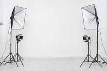 Studio Lights Flashes With Whi...