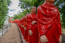Temple Of 500 Arhats (Arahants) In Nellikulama, Anuradhapura, Sri Lanka