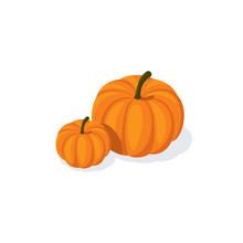 Pumpkins Vector 3d Isometric, ...
