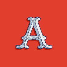 Letter A Logo In Classic Sport...