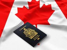 Passport Of Canada On The Top ...