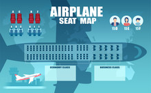 Vector Of An Airplane Seat Cha...