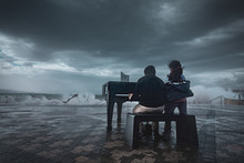 Epic Emotional Piano Playing In A Thunderstorm At The Beach