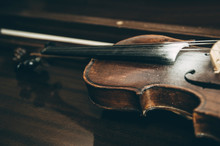 Old Violin Music Instrument Of...