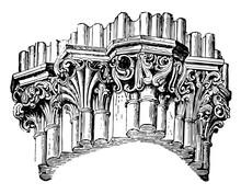 Clustered Pillar, Wells,  Vint...