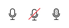 Set Of Three Microphone Icons....