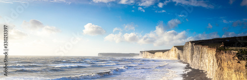 Panorama of Seven sisters in England Wallpaper Mural