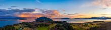 Panoramic Moonrise Over Lummi ...