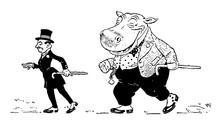 Hippopotamus, Vintage Illustra...