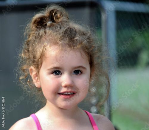 Fotografija Closeup of Curly Headed Little Girl