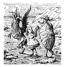 Mock Turtle, Vintage Illustration