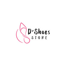 Woman Shoes Logo Design Vector Template. BeautIful Shoes Logo