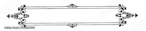 Obraz Filigree banner corners is decorated, vintage engraving. - fototapety do salonu