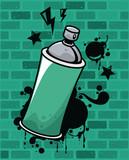Fototapeta Młodzieżowe - graffiti urban style poster with paint spray bottle
