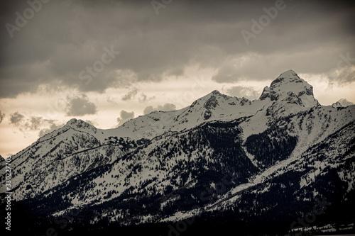 Teton Mountain Range near Yellowstone National Park