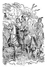 The Wild Swans, Vintage Illustration