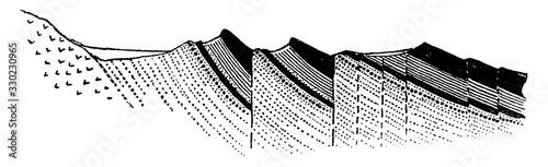 Fotografia, Obraz Strike Fault, vintage illustration.
