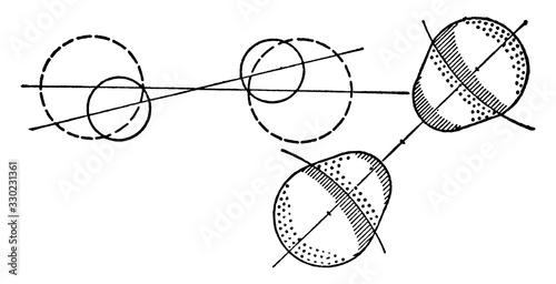 Photo Crossed Dispersion, vintage illustration