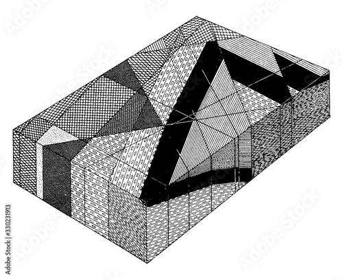 Obraz na plátne Basalt Diagram, vintage illustration.
