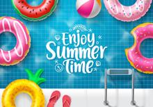 Summer Time Vector Banner Desi...