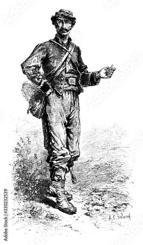 Fotomural Soldier, vintage illustration.