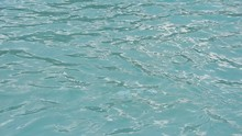 Clear Cyan Blue Swimming Pool Water Ripple Waves By Beach Front Hotel