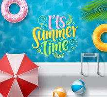 It's Summer Time Vector Banner...
