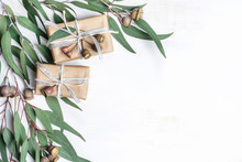 Gifts Wrapped In Natural Paper...