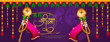 Vector Illustration For Festival Of Gudi Padwa Marathi Gudi Padwachi Hardik Shubhechha Meaning Heartiest Greetings Of Gudi Padwa - Vector