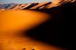 canvas print picture - Abendstimmung in der Wüste Gobi, Mongolei