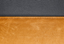 Stitched Brown Leather Backgro...