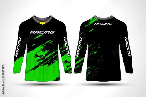 Fotomural Long sleeve t-shirt sport motorcycle, motocross, mtb jersey