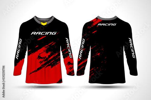 Fotografie, Obraz Long sleeve t-shirt sport motorcycle, motocross, mtb jersey