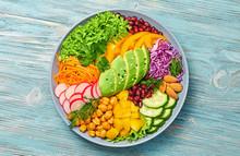 Buddha Bowl Salad With Avocado...