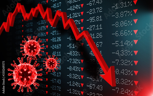 Cuadros en Lienzo Impact of the virus on the world economy