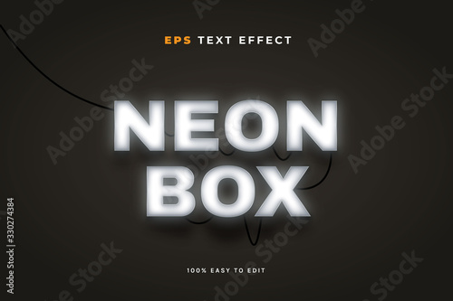 Fotografie, Tablou Neon Box Text Effect