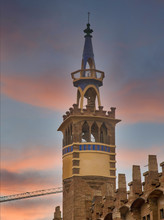 A Church Bell Tower In Barcelo...