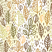 Seamless Pattern With Leaves. ...