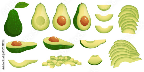 Photo Cartoon avocado